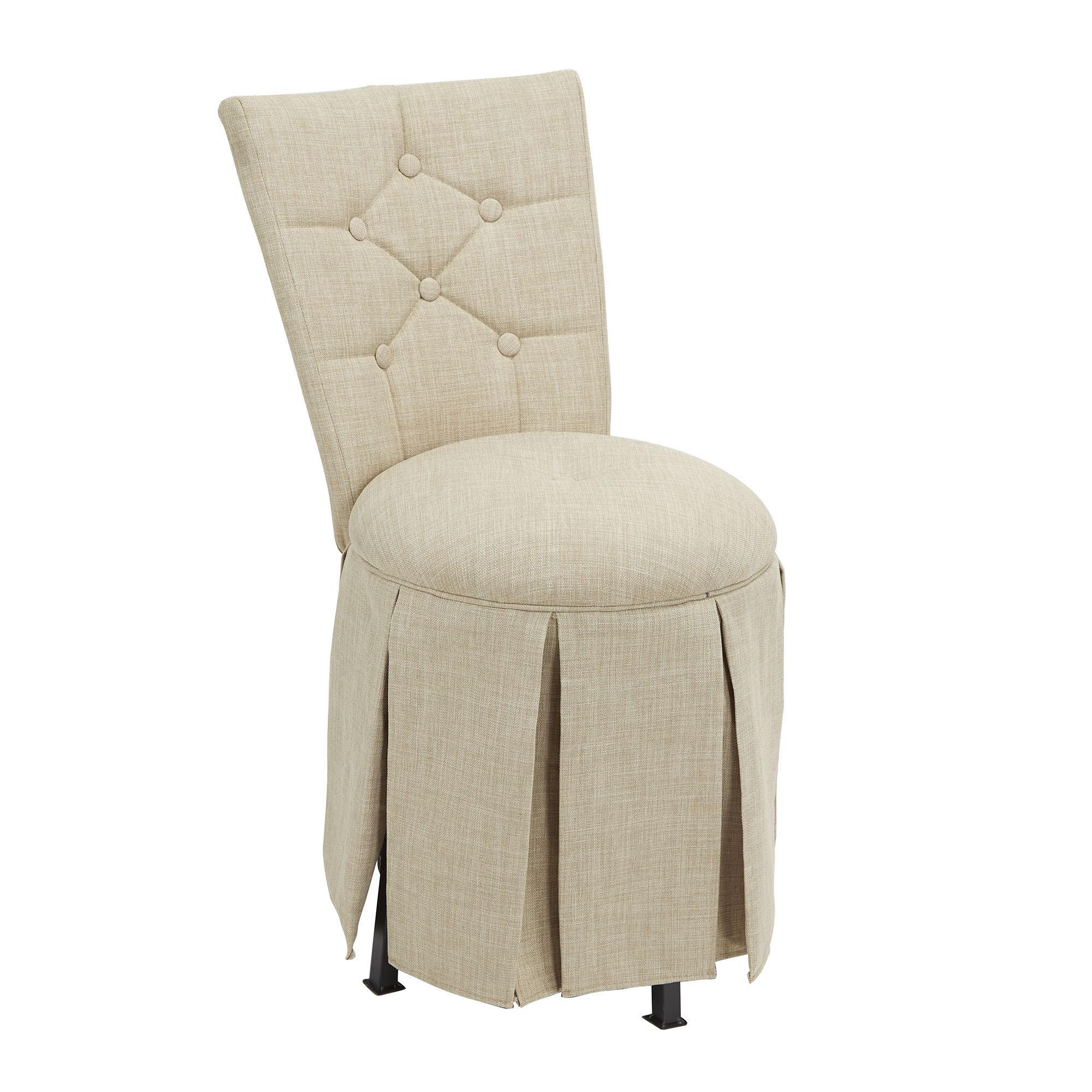 Remarkable Simonson Skirted Vanity Swivel Side Chair Evergreenethics Interior Chair Design Evergreenethicsorg