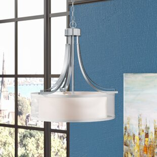 Ebern Designs Demby 3-Light Drum Chandelier