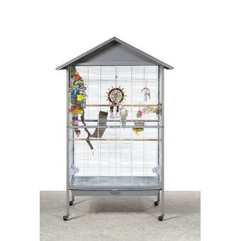 Archie & Oscar Eli Deluxe Parrot Bird Cage with Play Top