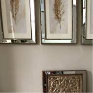 e4e742ad2b Cole & Grey 3 Piece Metal Mirror Plaque Wall Décor Set & Reviews ...