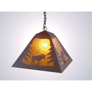Bargain Moose 1-Light Dome Pendant By Steel Partners