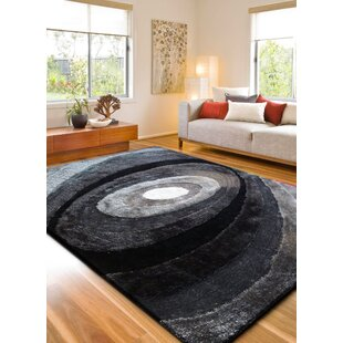Purchase Living Shag Hand-Tufted Black Area Rug ByRug Factory Plus