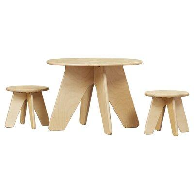Harriet Bee Ossett Kids 3 Piece Table & Stool Set Finish: Blonde