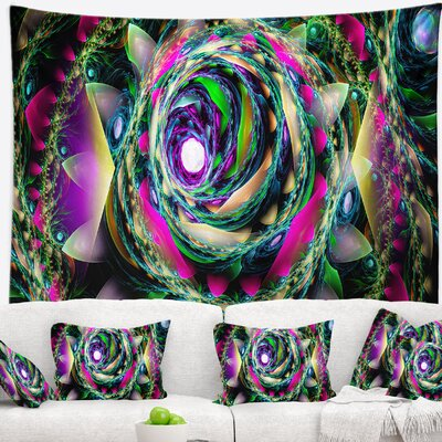 Floral Colorful Exotic Whirlpool Flower Tapestry East Urban Home