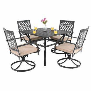 Stockard 5 Piece Dining Set with Cushions..