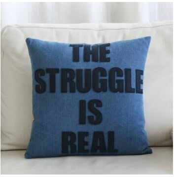 Alexandra Ferguson The Struggle Is Real Throw Pillow Wayfair