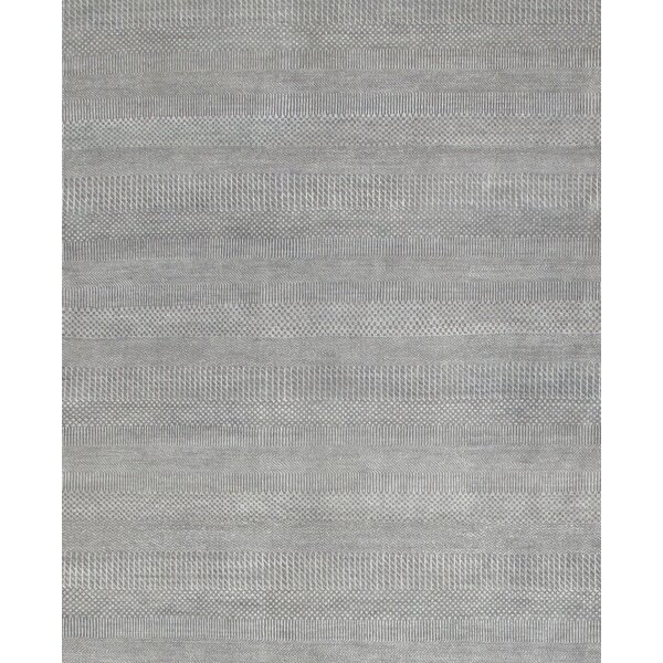 Pasargad Hand Knotted Wool And Rayon From Bamboo Silk Light Grey Area Rug Wayfair