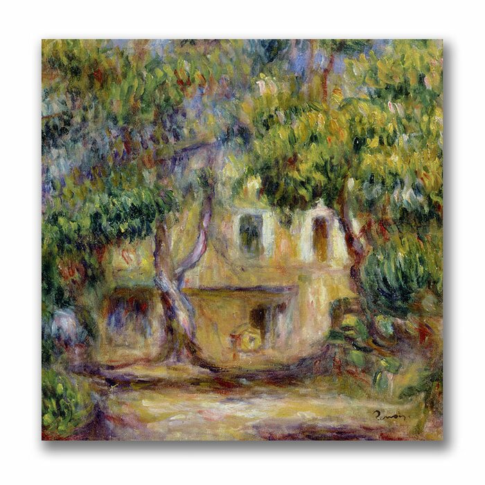 The farm at Les Collettes by Pierre-Auguste Renoir Giclee Print Repro on Canvas