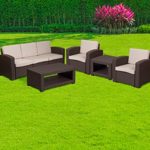 Resler 5 Piece Sofa Set with Cushions