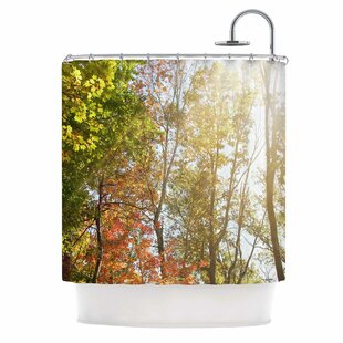 Compare prices Autumn Trees I Shower Curtain By East Urban Home