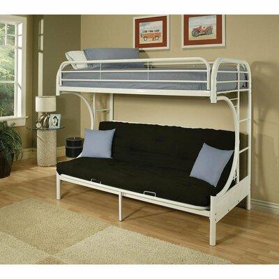 Zoomie Kids Kelm Futon Twin Futon Bunk Bed Colour: White