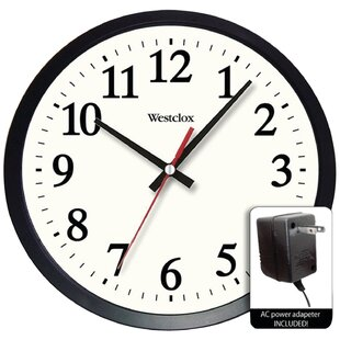 Nesmith Round Electric Ed Office 14 Wall Clock
