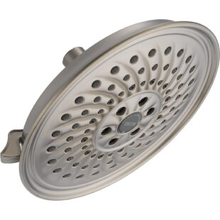 Budget Universal Showering Components 2 GPM Shower Head with H2okinetic Technology By Delta