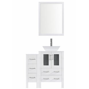 Read Reviews Modern 36 Single Bathroom Vanity Set with Mirror By LessCare