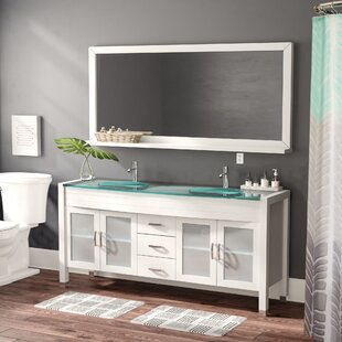 Frausto 71 Double Bathroom Vanity Set with Mirror by Brayden Studio