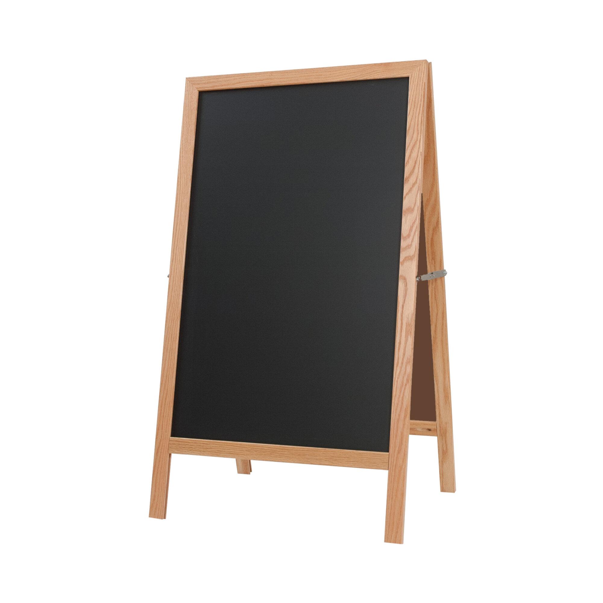 Symple Stuff Free Standing Chalkboard Wayfair