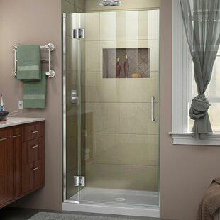 DreamLine Unidoor-X 30 in. W x 72 in. H Frameless Hinged Shower Door