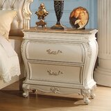 Leawood Traditional 2 Drawer Nightstand by Rosdorf Park