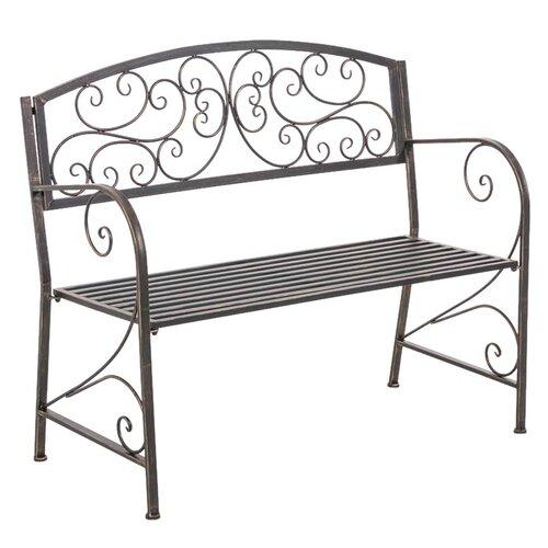 Gartenbank Tahoe aus Metall | Garten > Gartenmöbel > Gartenbänke | Bronze | Metall - Korbgeflecht | Home & Haus