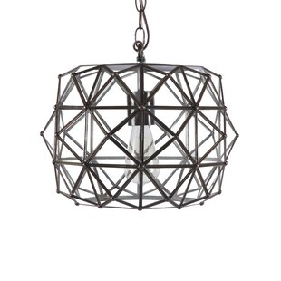 Worlds Away Faceted 1-Light Geometric Pendant