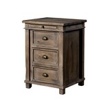 Huntingdon 3 Drawer Nightstand by Loon Peak®