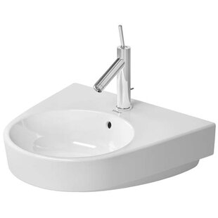 Top Reviews Starck 2 Ceramic 23 Wall Mount Bathroom Sink with Overflow By Duravit