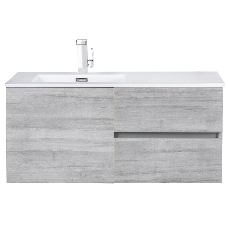 Mercury Row Alabama 42 Wall Mounted Single Bathroom Vanity Set Reviews Wayfair