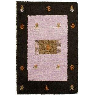 Rossett Hand Hooked Wool Purple Indoor/Outdoor Rug By Bloomsbury Market