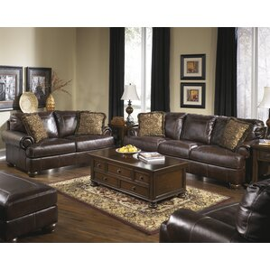 brown leather living room furniture. Bannister Configurable Living Room Set Leather Sets You ll Love  Wayfair
