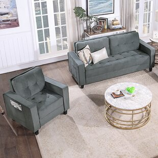2 Piece Upholstered Armchair And Three-Seat Set by Latitude Run