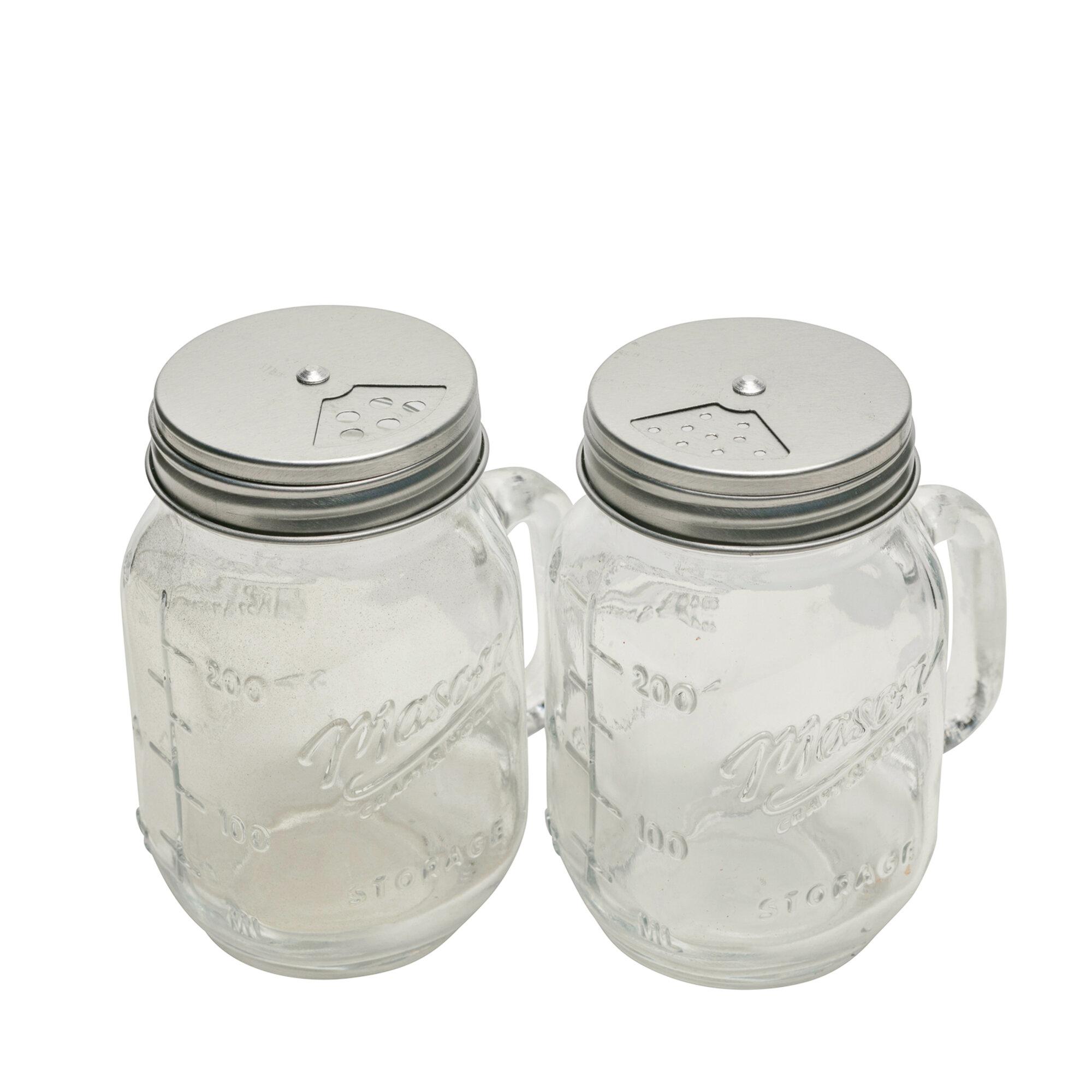 Mason Craft More 8 Oz Glass Salt Pepper Shaker Set Reviews Wayfair