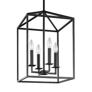 Modern foyer pendant lighting allmodern odie 4 light foyer pendant aloadofball Gallery