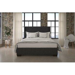 Nevaeh Wingback Upholstered Platform Bed