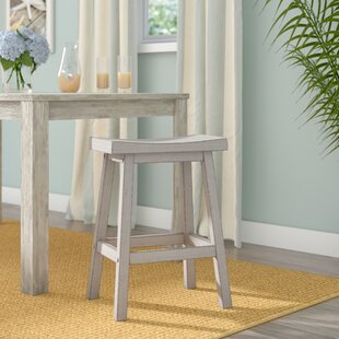 Rutledge Saddle 24 Barstool (Set of 2) Rosecliff Heights