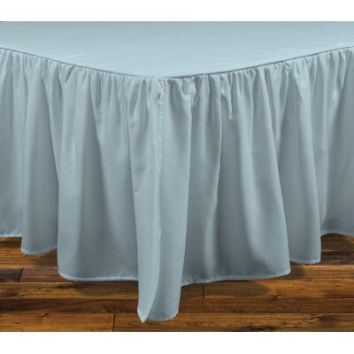 Brielle Stream 15 Bed Skirt Color: Seafoam, Size: California King