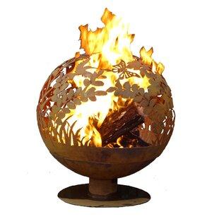 EsschertDesign Garden Fire Globe Steel Wo..