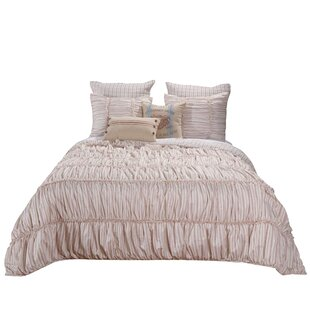 Jenna Farmhouse Chic Ruffle Reversible Comforter Set
