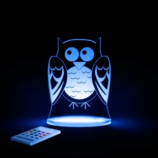 Lumenico Aloka Starlights LED Owl Night Light with Remote Control