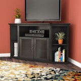 Jeffcoat Solid Wood Corner TV Stand for TVs up to 60 by Red Barrel Studio®