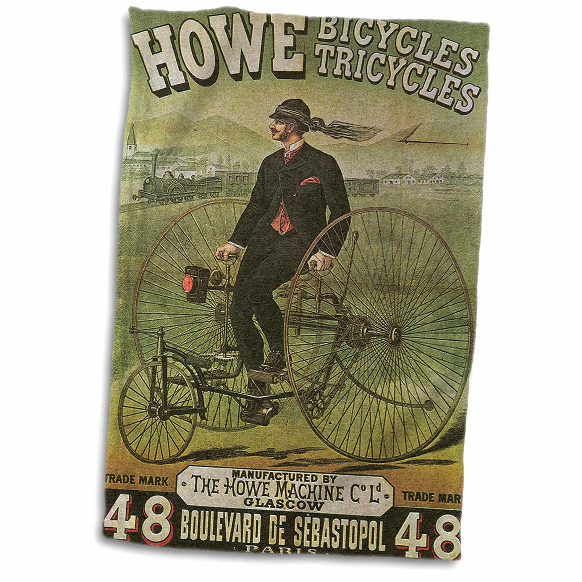 Symple Stuff Harvell Howe Bicycles Tricycles Glascow Advertising Poster Hand Towel Wayfair
