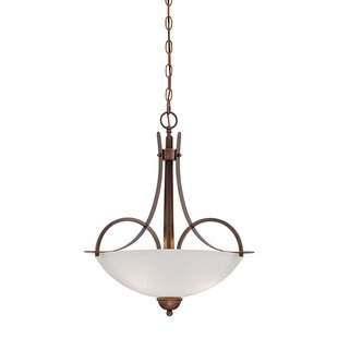 Fleur De Lis Living Thrapst 3-Light Bowl Pendant
