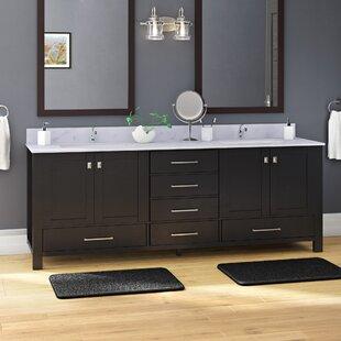Zeringue 84 inch  Wood Base Double Bathroom Vanity Set