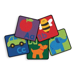 Reviews 26 Piece Sequential Literacy Seating Square Area Rug Set ByCarpets for Kids Premium Collection