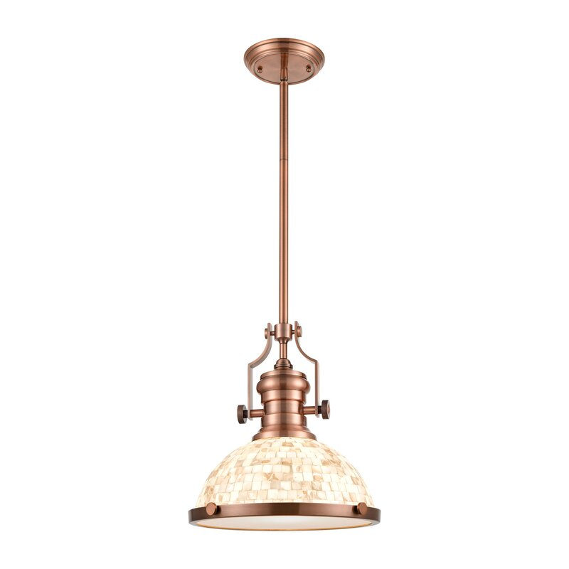 Mercer41 Shrum Unique Statement Dome Pendant Wayfair