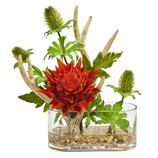 Artificial Mixed Floral Arrangement and Centerpieces in Vase