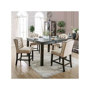 Duley Rectangular 5 Piece Pub Table Set Gracie Oaks