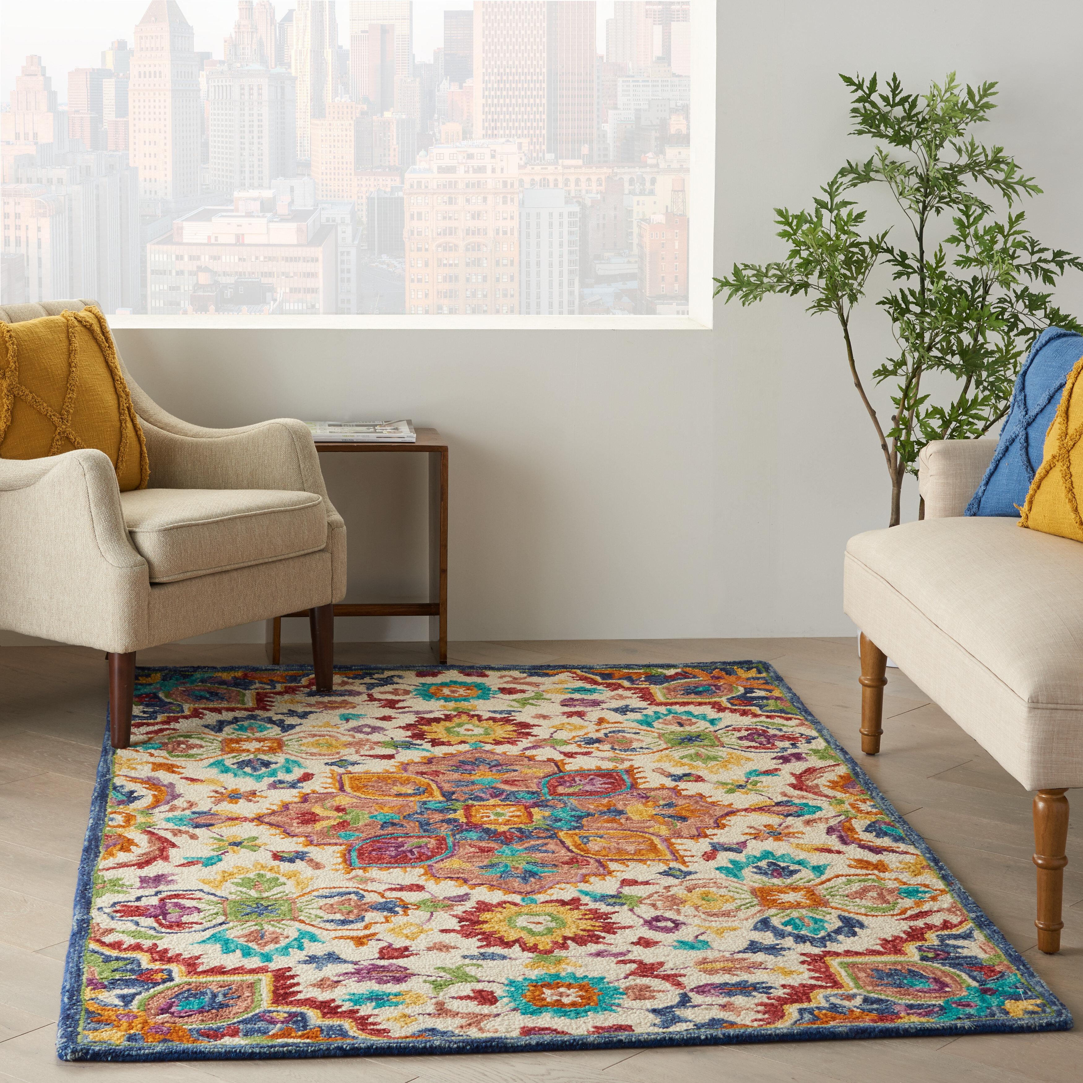 Dakota Fields Oriental Tufted Wool Orange Area Rug Reviews Wayfair