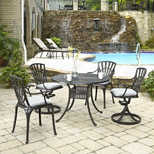 Astoria Grand Frontenac 5 Piece Dining Set with Cushion