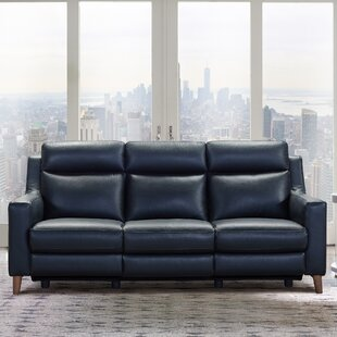 Georgianna Leather Reclining Sofa by Brayden Studio