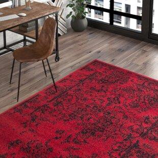 Compare prices Costa Mesa Red/Black Area Rug ByTrent Austin Design